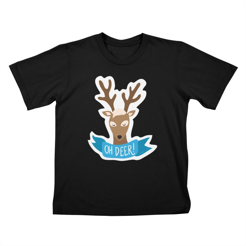 Oh Deer! - Sticker Shirt Kids T-Shirt by LLUMA Creative Design