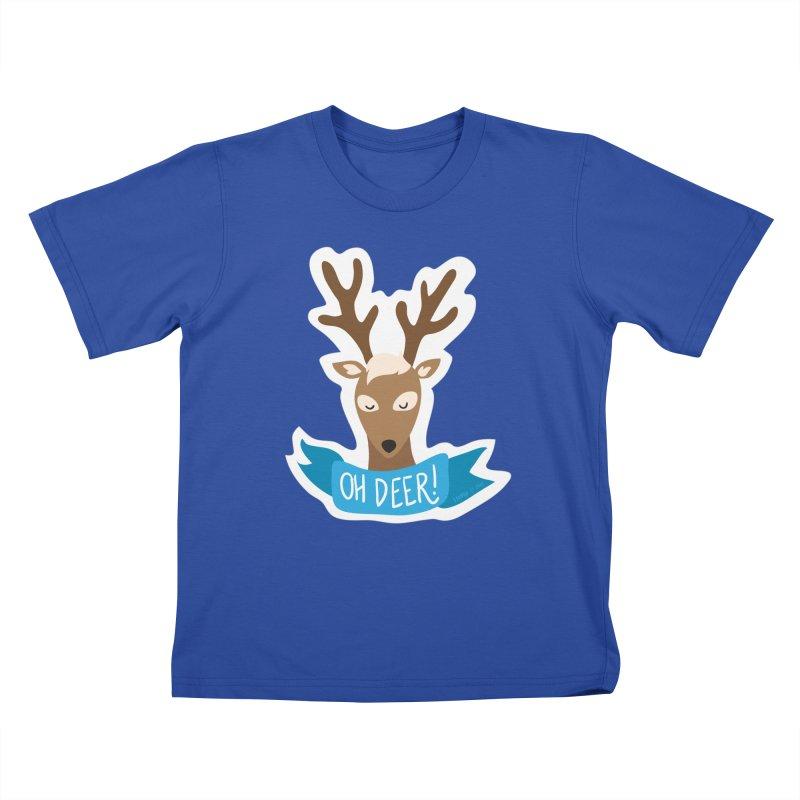 Oh Deer! - Sticker Shirt Kids T-Shirt by LLUMA Creative Design