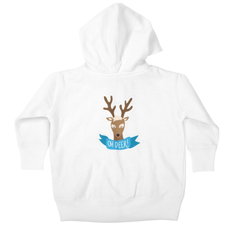 Oh Deer! - Sticker Shirt Kids Baby Zip-Up Hoody by LLUMA Creative Design