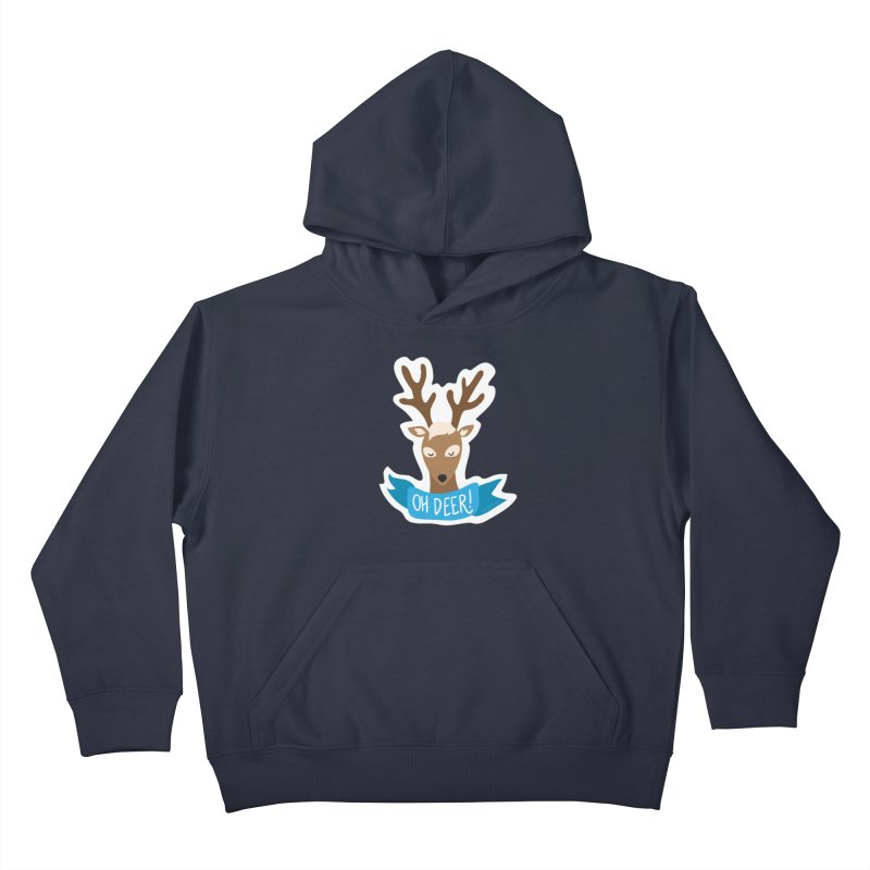 Oh Deer! - Sticker Shirt Kids Pullover Hoody by LLUMA Creative Design
