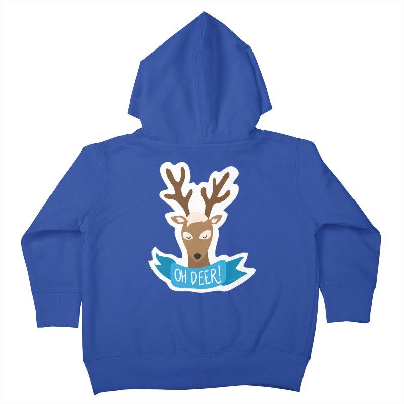 Oh Deer! - Sticker Shirt Kids Toddler Zip-Up Hoody by LLUMA Creative Design