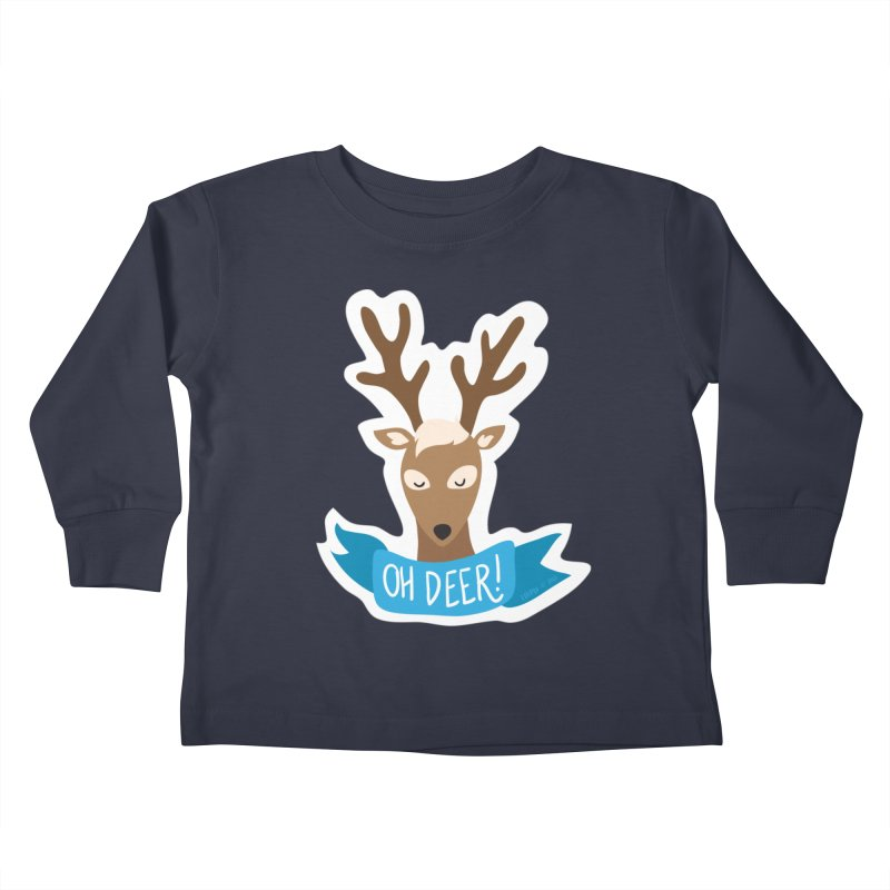 Oh Deer! - Sticker Shirt Kids Toddler Longsleeve T-Shirt by LLUMA Creative Design