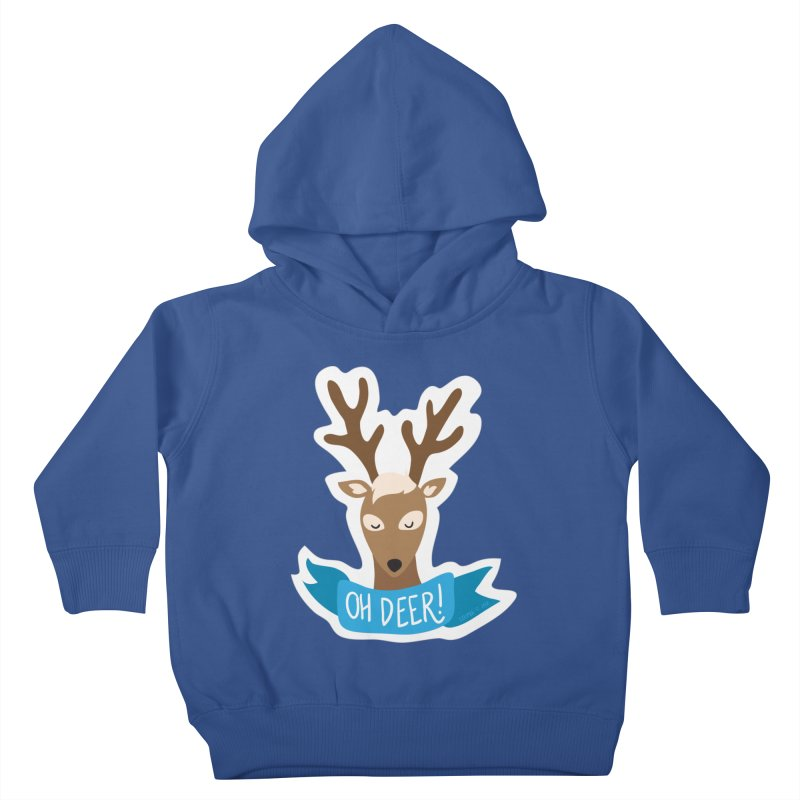 Oh Deer! - Sticker Shirt Kids Toddler Pullover Hoody by LLUMA Creative Design
