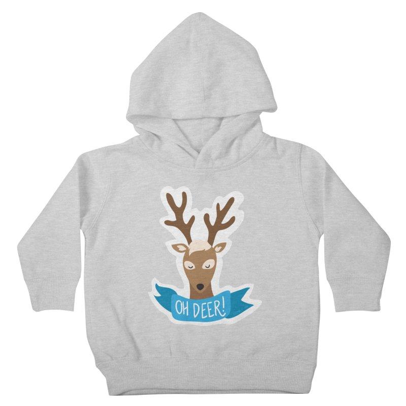 Oh Deer! - Sticker Shirt Kids Toddler Pullover Hoody by LLUMA Creative Design