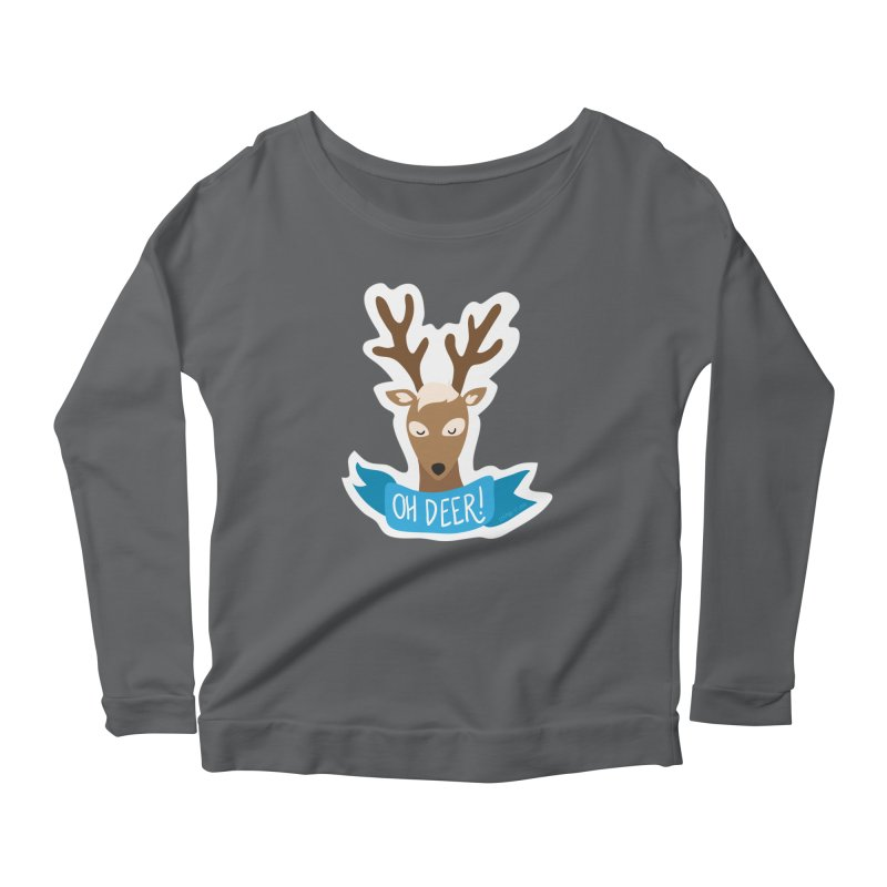 Oh Deer! - Sticker Shirt Women's Longsleeve T-Shirt by LLUMA Creative Design