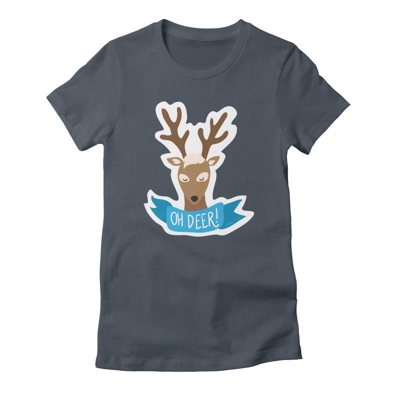 Oh Deer! - Sticker Shirt Women's T-Shirt by LLUMA Creative Design