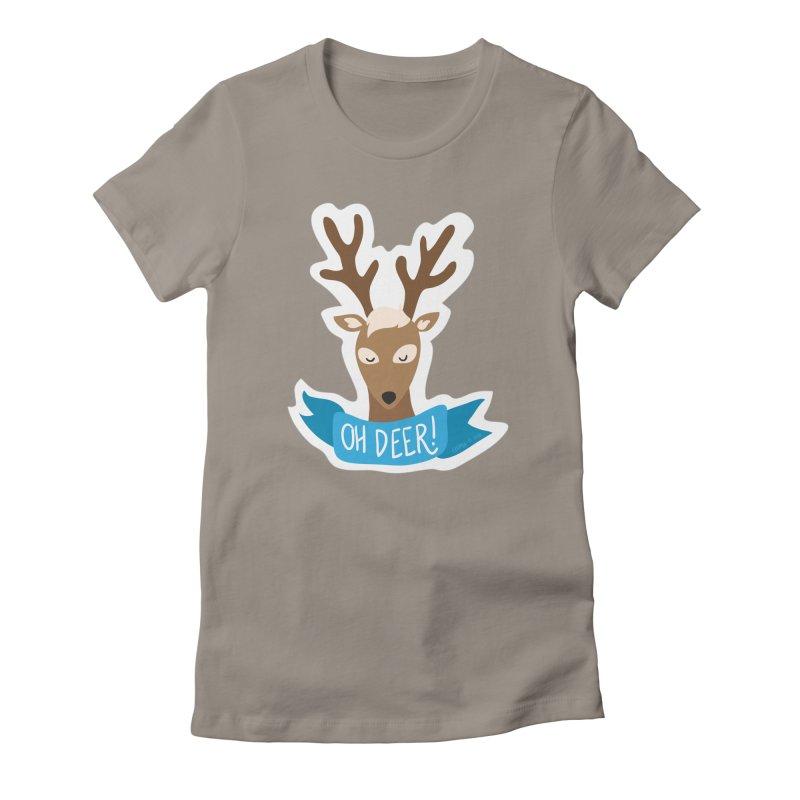 Oh Deer! - Sticker Shirt Women's Fitted T-Shirt by LLUMA Creative Design