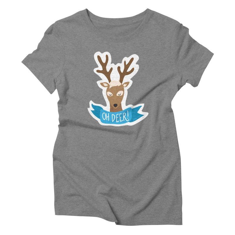 Oh Deer! - Sticker Shirt Women's Triblend T-Shirt by LLUMA Creative Design