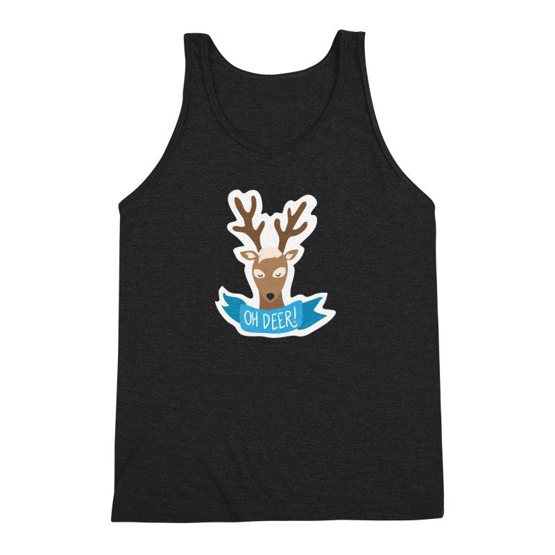 Oh Deer! - Sticker Shirt Men's Tank by LLUMA Creative Design