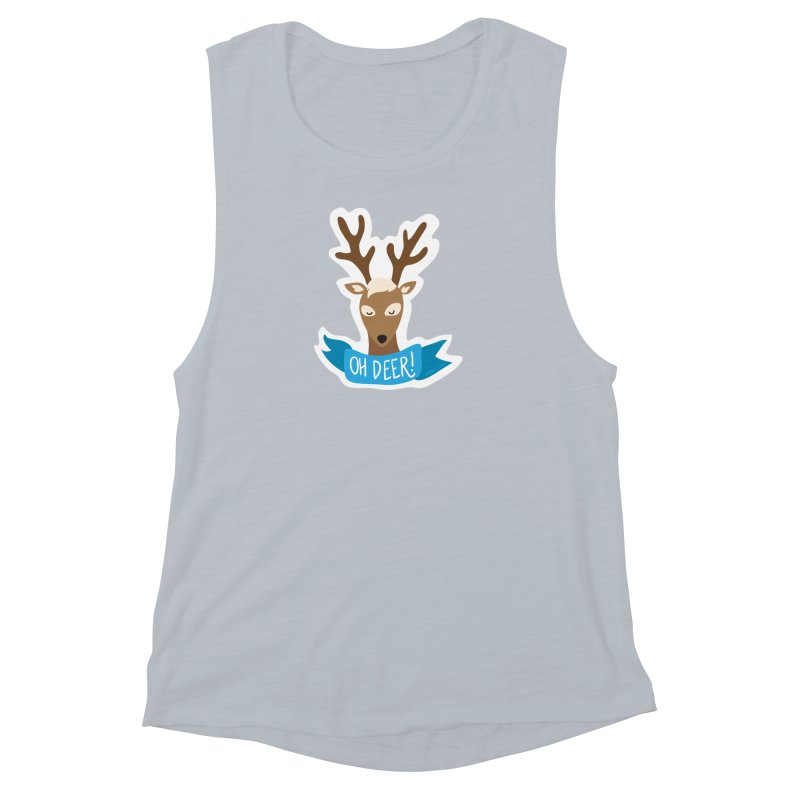 Oh Deer! - Sticker Shirt Women's Muscle Tank by LLUMA Creative Design