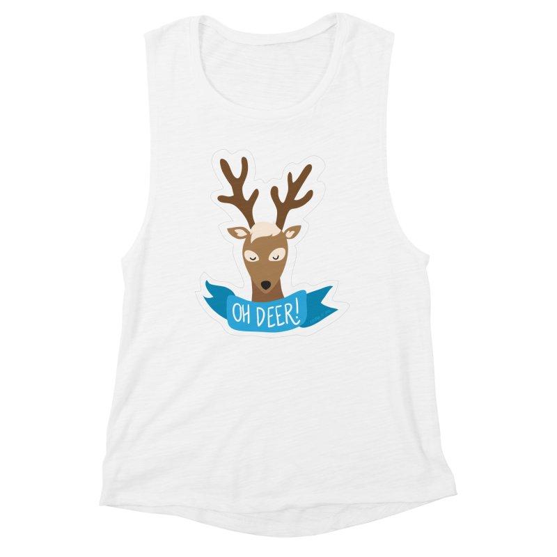 Oh Deer! - Sticker Shirt Women's Muscle Tank by LLUMA Creative Design