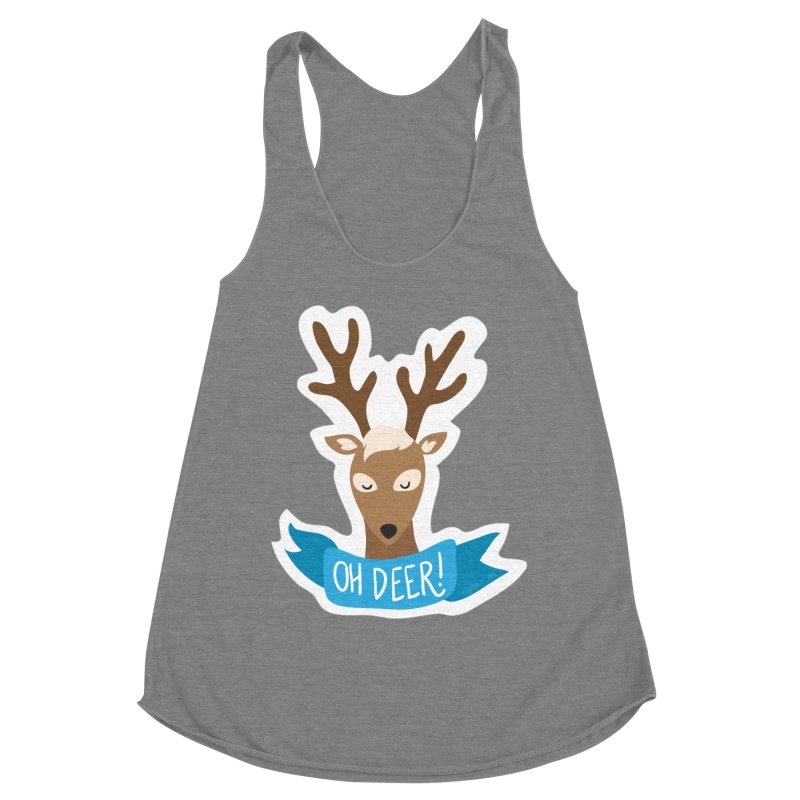Oh Deer! - Sticker Shirt Women's Tank by LLUMA Creative Design