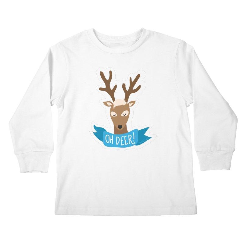 Oh Deer! - Sticker Shirt Kids Longsleeve T-Shirt by LLUMA Creative Design