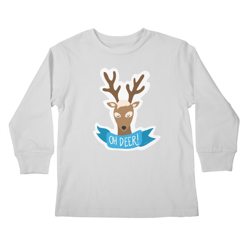 Oh Deer! - Sticker Shirt Kids Longsleeve T-Shirt by LLUMA Creative Design