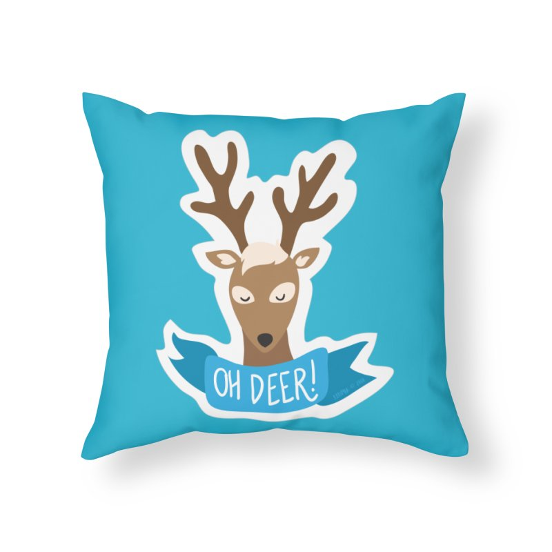 Oh Deer! - Sticker Shirt Home Throw Pillow by LLUMA Creative Design