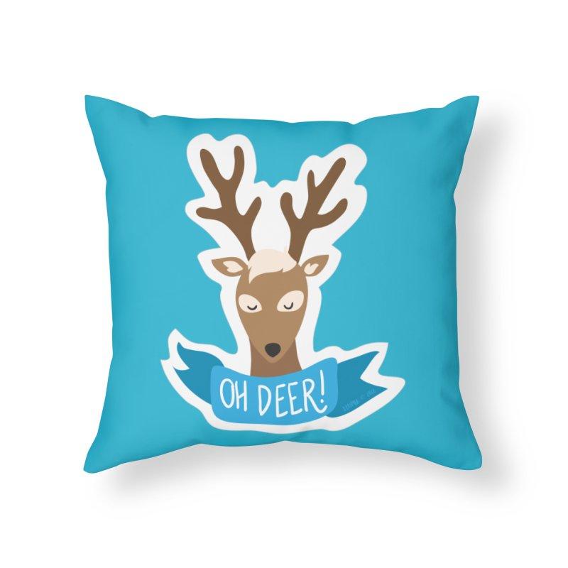Oh Deer! - Sticker Shirt Home Throw Pillow by LLUMA Creative Design