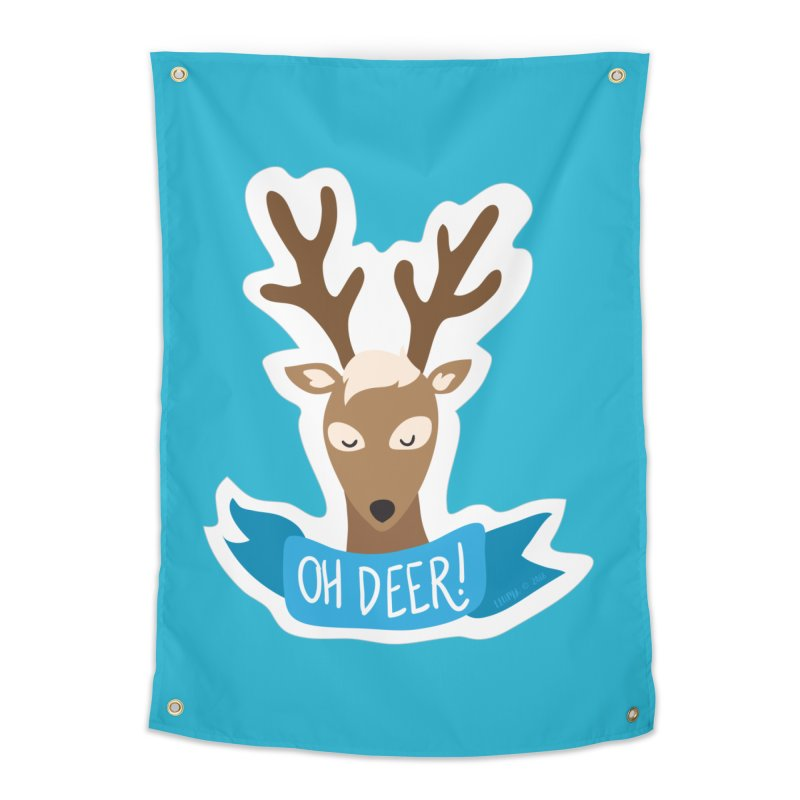 Oh Deer! - Sticker Shirt Home Tapestry by LLUMA Creative Design