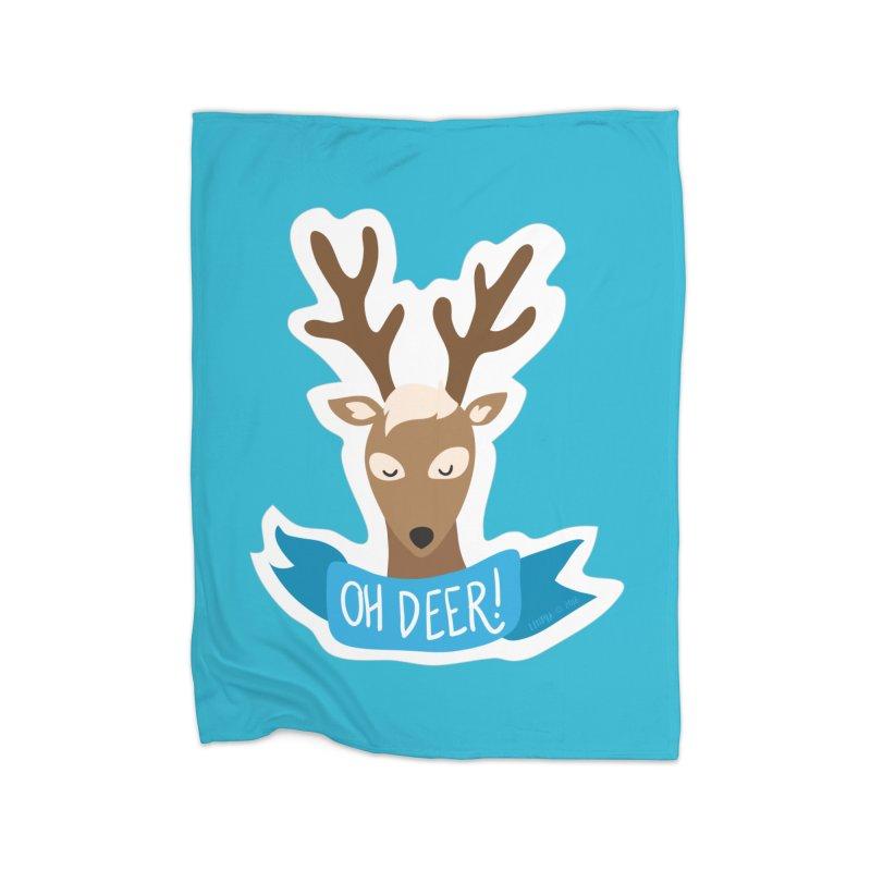 Oh Deer! - Sticker Shirt Home Fleece Blanket Blanket by LLUMA Creative Design