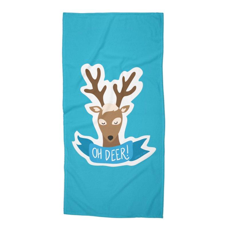 Oh Deer! - Sticker Shirt Accessories Beach Towel by LLUMA Creative Design