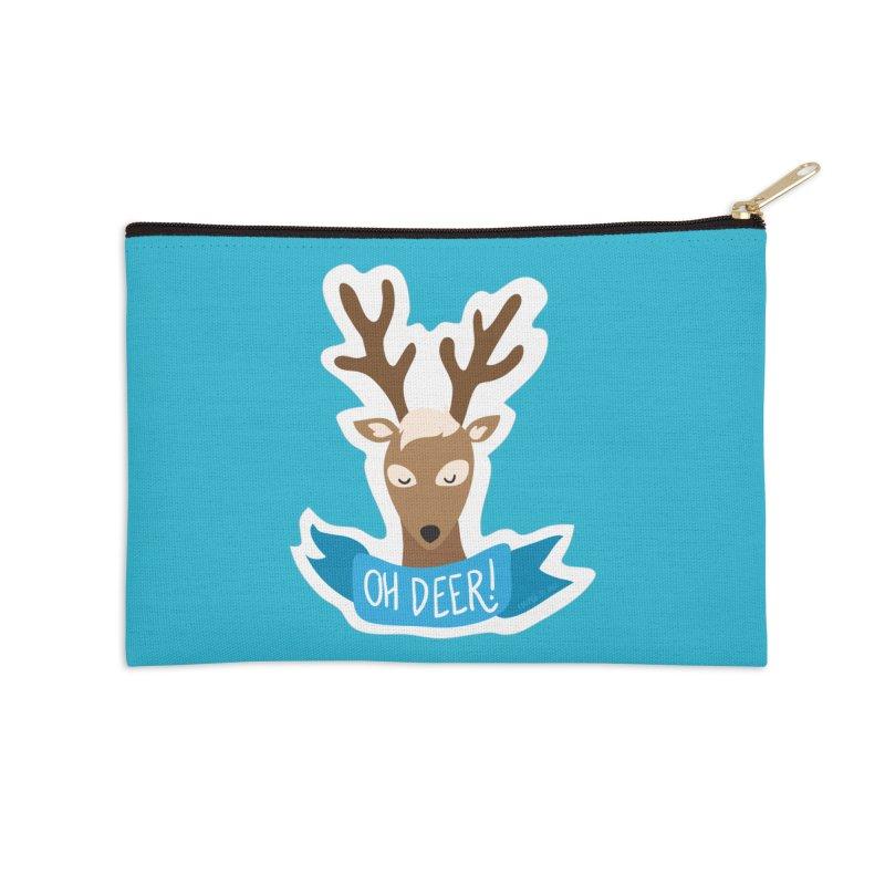Oh Deer! - Sticker Shirt Accessories Zip Pouch by LLUMA Creative Design