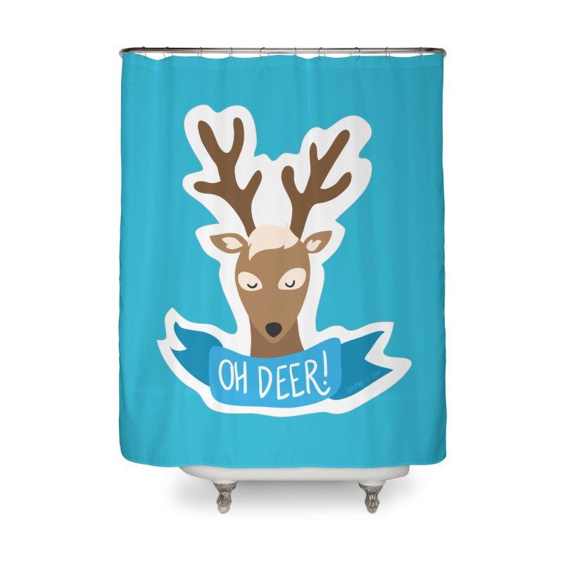 Oh Deer! - Sticker Shirt Home Shower Curtain by LLUMA Creative Design