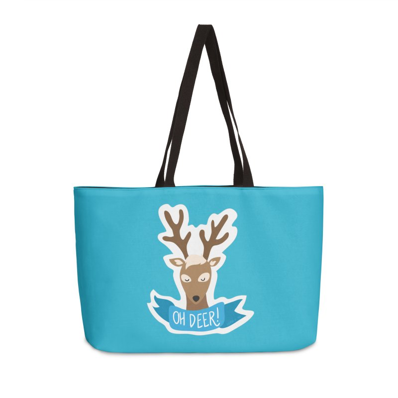 Oh Deer! - Sticker Shirt Accessories Weekender Bag Bag by LLUMA Creative Design