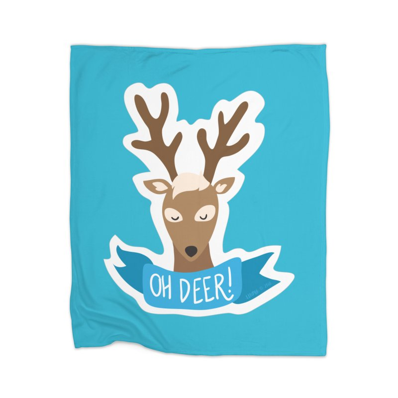 Oh Deer! - Sticker Shirt Home Blanket by LLUMA Creative Design