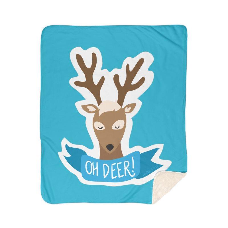 Oh Deer! - Sticker Shirt Home Blanket by LLUMA Creative Design