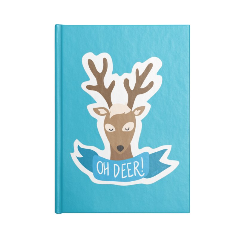Oh Deer! - Sticker Shirt Accessories Lined Journal Notebook by LLUMA Creative Design