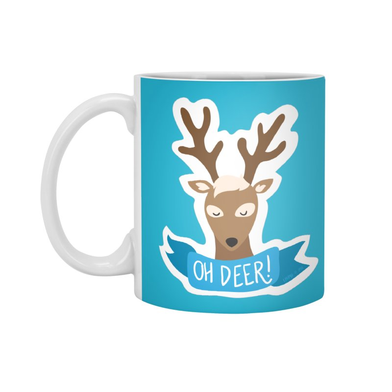 Oh Deer! - Sticker Shirt Accessories Standard Mug by LLUMA Creative Design