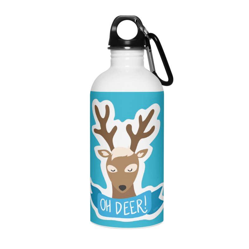 Oh Deer! - Sticker Shirt Accessories Water Bottle by LLUMA Creative Design