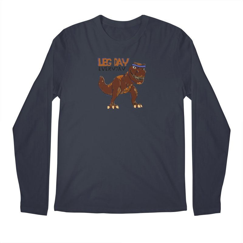 Leg Day Everyday Men's Longsleeve T-Shirt by LLUMA Creative Design
