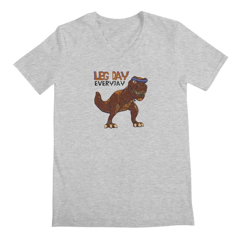 Leg Day Everyday Men's V-Neck by LLUMA Creative Design