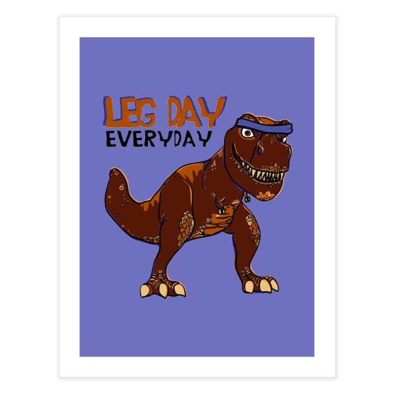 Leg Day Everyday Home Fine Art Print by LLUMA Creative Design