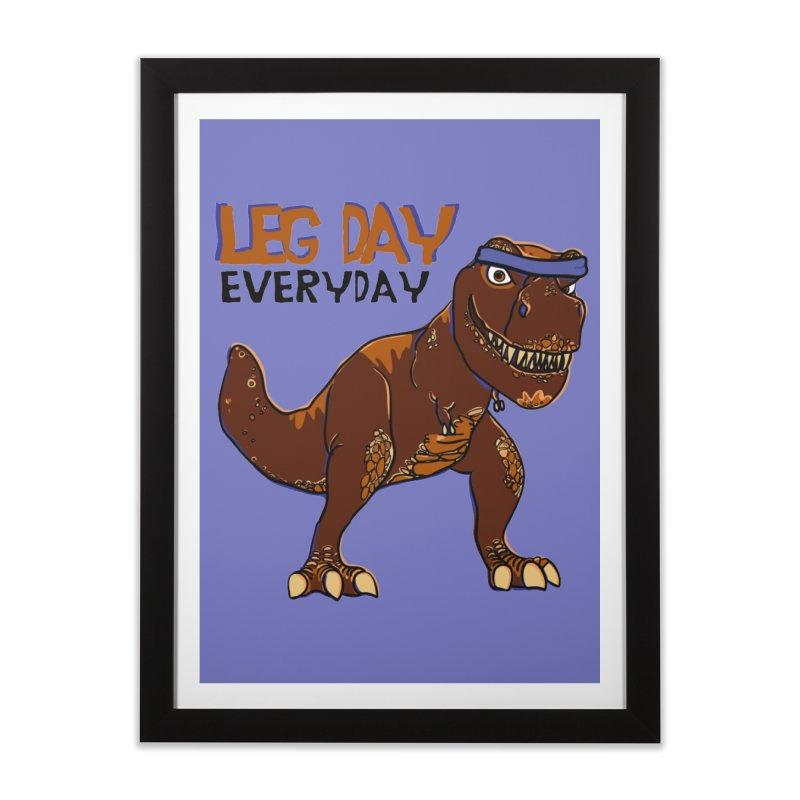 Leg Day Everyday Home Framed Fine Art Print by LLUMA Creative Design