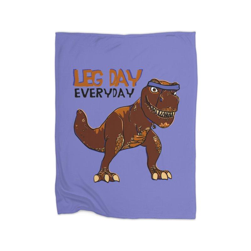 Leg Day Everyday Home Blanket by LLUMA Creative Design