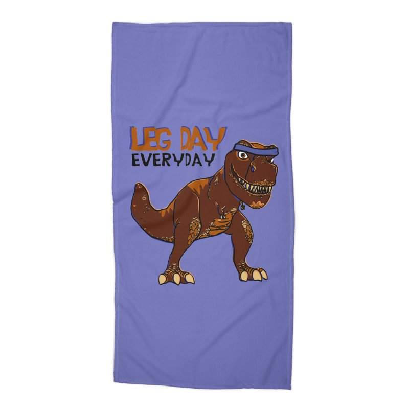 Leg Day Everyday Accessories Beach Towel by LLUMA Creative Design