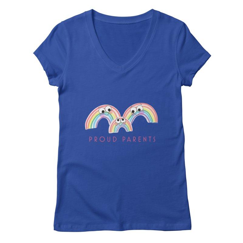Proud Parents Women's Regular V-Neck by LLUMA Creative Design
