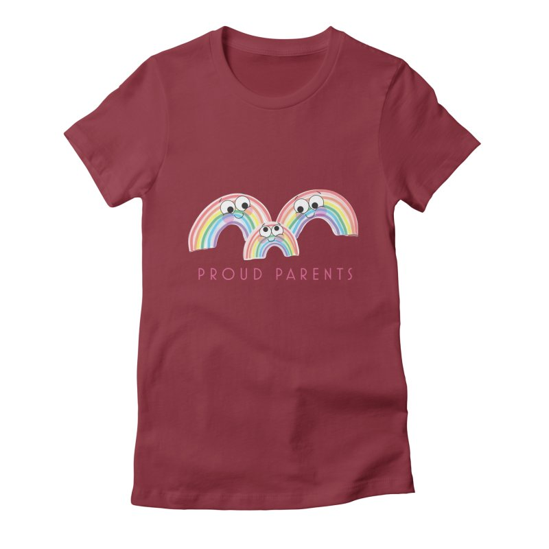 Proud Parents Women's Fitted T-Shirt by LLUMA Creative Design
