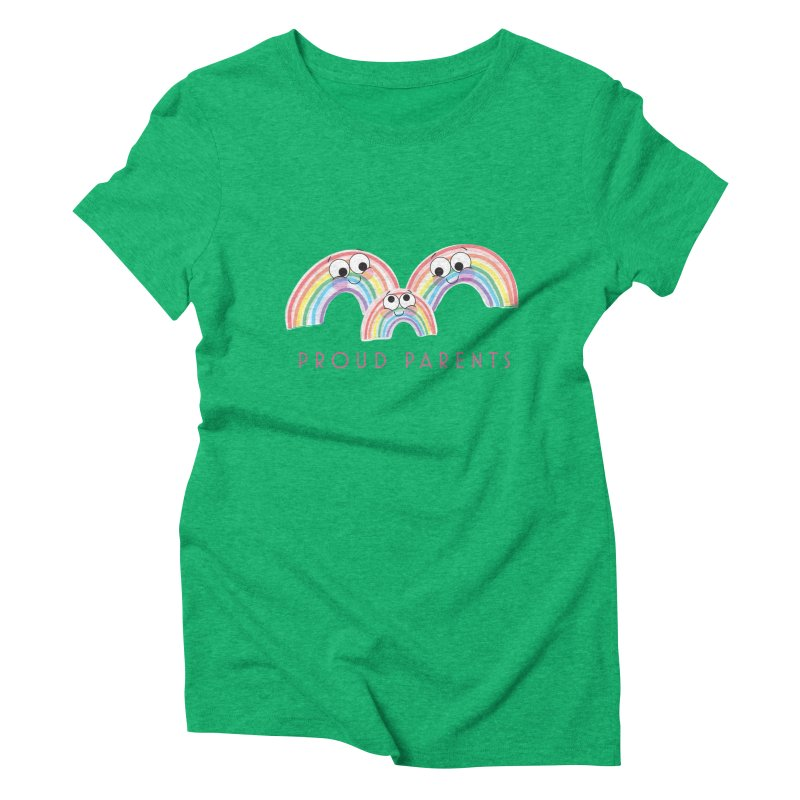 Proud Parents Women's Triblend T-Shirt by LLUMA Creative Design