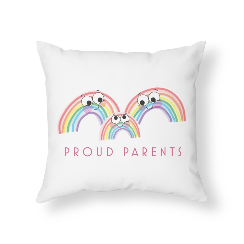 Proud Parents Home Throw Pillow by LLUMA Creative Design