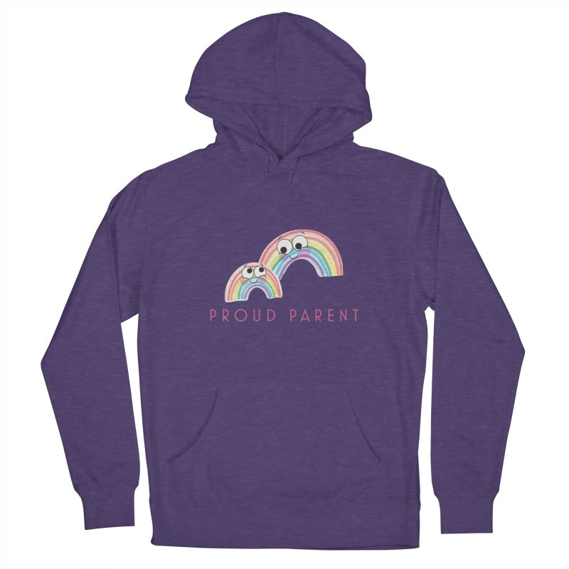 Proud Parent Men's French Terry Pullover Hoody by LLUMA Creative Design