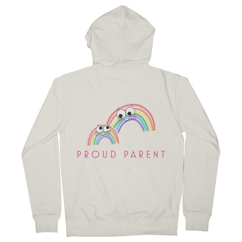 Proud Parent Men's Zip-Up Hoody by LLUMA Creative Design