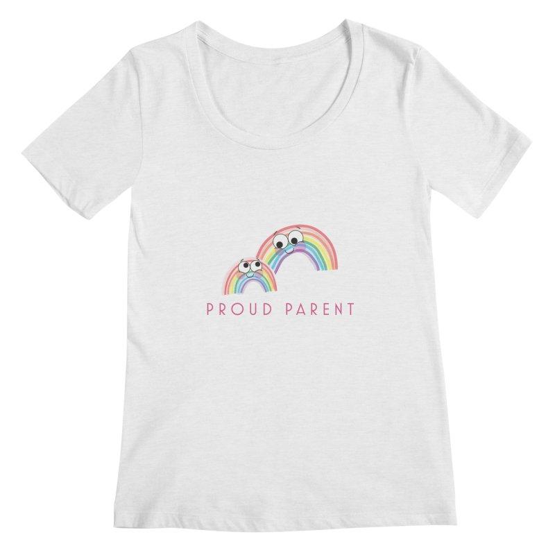 Proud Parent Women's Regular Scoop Neck by LLUMA Creative Design