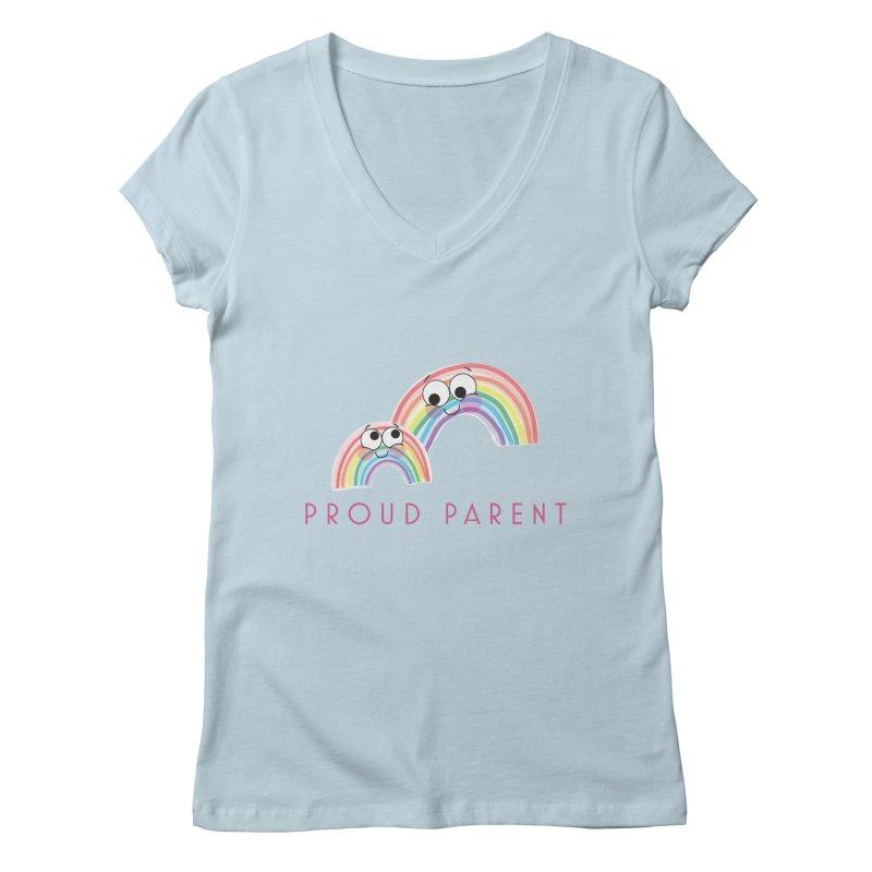 Proud Parent Women's Regular V-Neck by LLUMA Creative Design