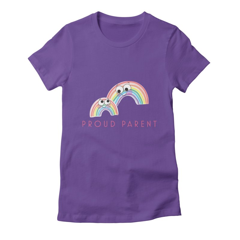 Proud Parent Women's Fitted T-Shirt by LLUMA Creative Design