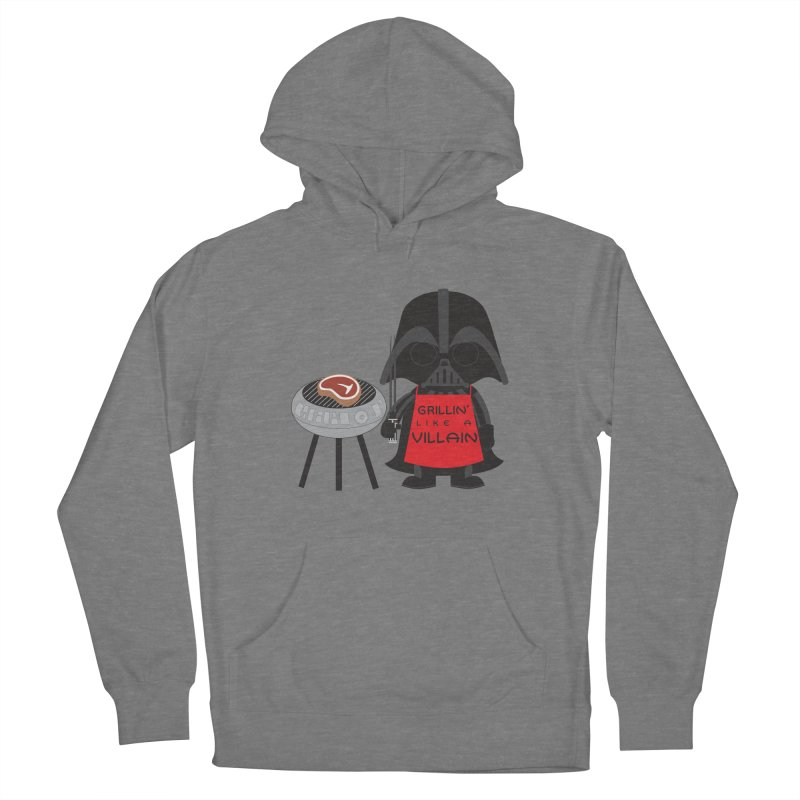 Death Star BBQ Men's French Terry Pullover Hoody by LLUMA Creative Design