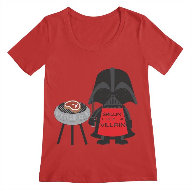 Death Star BBQ Women's Regular Scoop Neck by LLUMA Creative Design