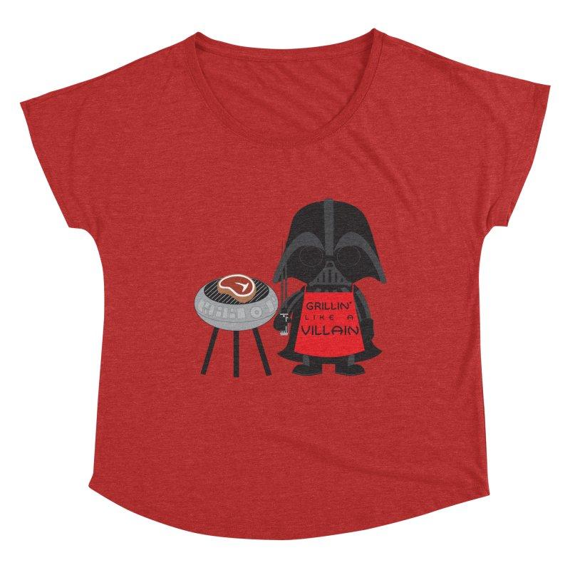 Death Star BBQ Women's Dolman Scoop Neck by LLUMA Creative Design