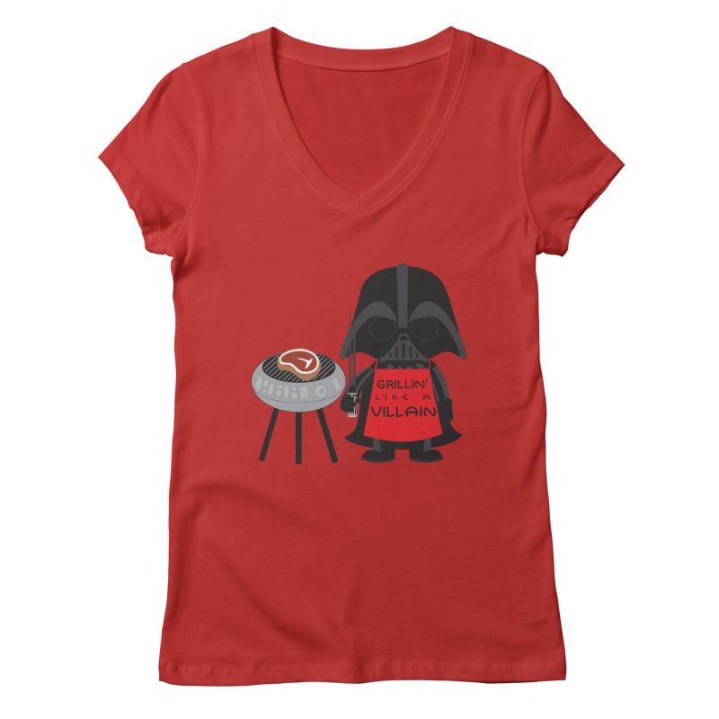 Death Star BBQ Women's Regular V-Neck by LLUMA Creative Design